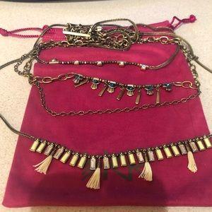 "Silpada K&R ""Neon Layers"" Brass Necklace KRN0069"
